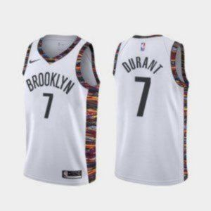 Authentic Brooklyn Nets Kevin Durant White Jersey